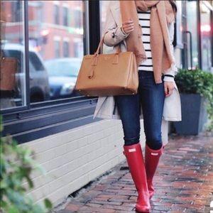 Hunter // Tall Red Gloss Rainboots